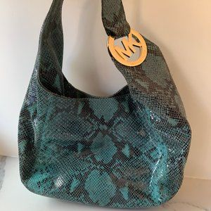 Michael Kors snakeprint shoulder bag